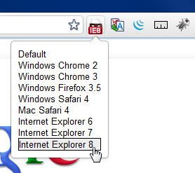 chrome user agent spoofer screen capture