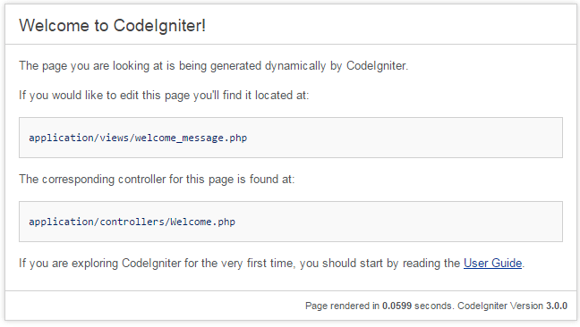 Welcome to CodeIgniter 3